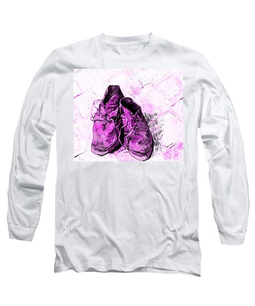 Long Sleeve T-Shirt featuring the photograph Pink Shoes by John Stephens