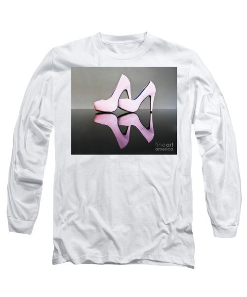 Long Sleeve T-Shirt featuring the photograph Pink Stiletto Shoes by Terri Waters