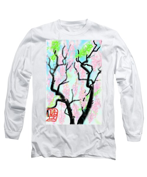Pink Wisteria Long Sleeve T-Shirt