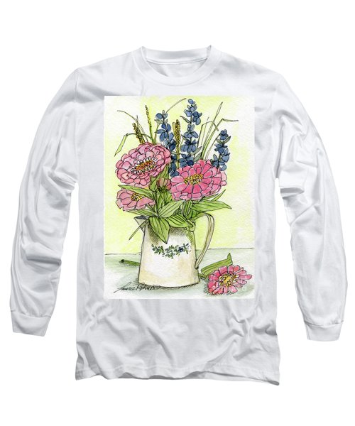 Pink Zinneas Long Sleeve T-Shirt