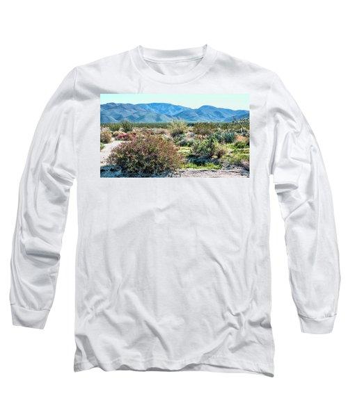 Pinyon Mtns Desert View Long Sleeve T-Shirt by Daniel Hebard