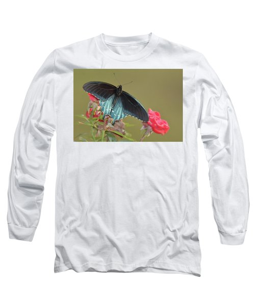 Pipevine Swallowtail Long Sleeve T-Shirt by Alan Lenk