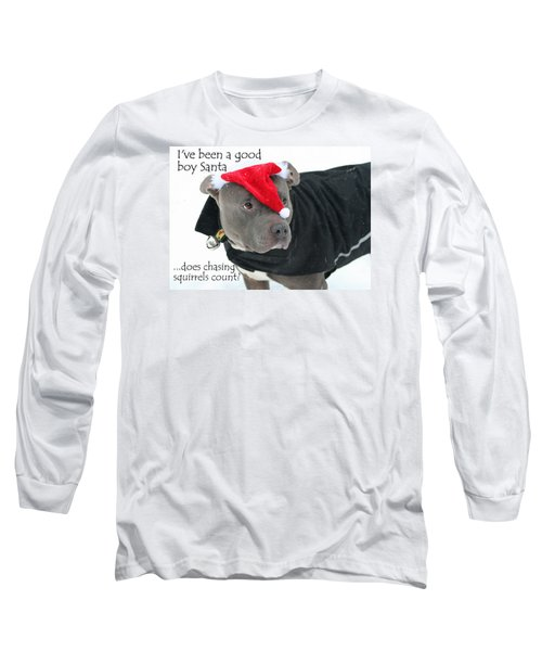 Pit Bull Christmas Two Long Sleeve T-Shirt
