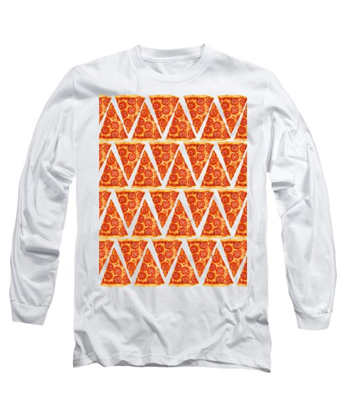 Pizza Slices Long Sleeve T-Shirt by Diane Diederich