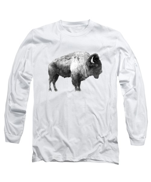 Plains Bison Long Sleeve T-Shirt by Jim Sauchyn