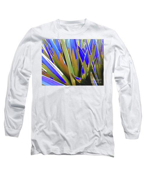 Plant Burst - Blue Long Sleeve T-Shirt