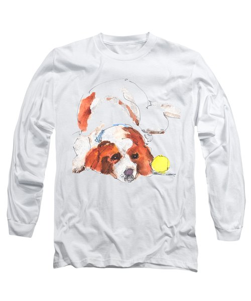 Play Ball By Kathleen Mcelwaine Long Sleeve T-Shirt by Kathleen McElwaine