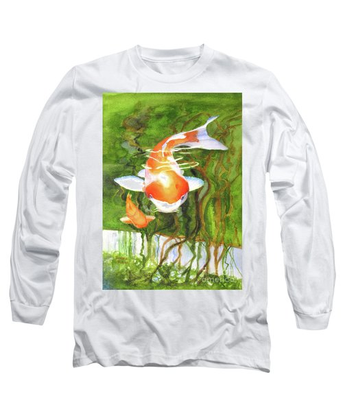 Play Koi With Me Long Sleeve T-Shirt by Bonnie Rinier