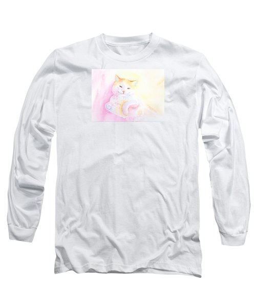 Playful Cat I Long Sleeve T-Shirt by Elizabeth Lock