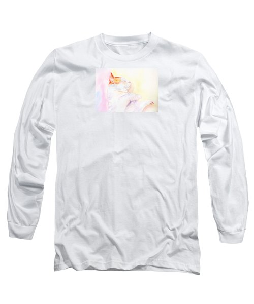 Long Sleeve T-Shirt featuring the painting Playful Cat Iv by Elizabeth Lock