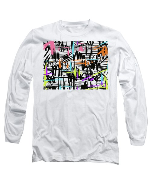 Playful Scribbles Long Sleeve T-Shirt by Go Van Kampen