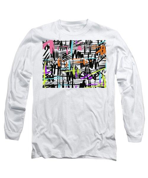 Playful Scribbles Long Sleeve T-Shirt