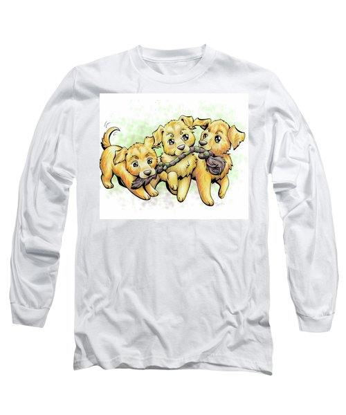 Playtime Golden Retriever Long Sleeve T-Shirt