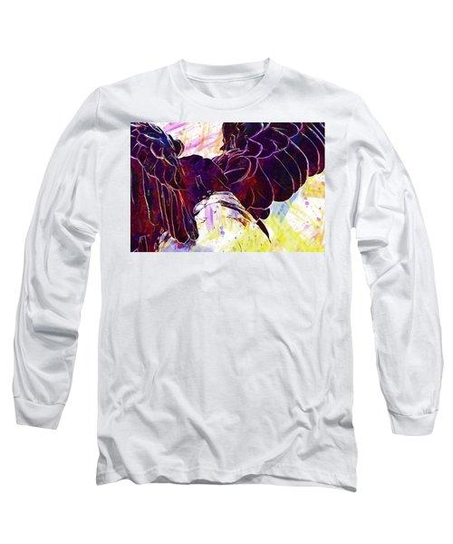 Long Sleeve T-Shirt featuring the digital art Plumage Bald Eagle  by PixBreak Art