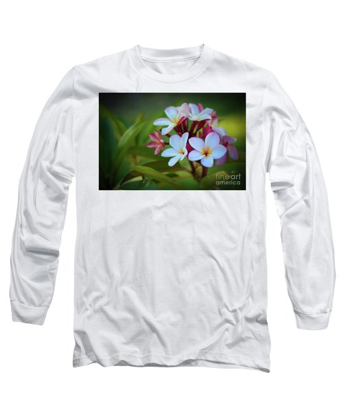 Long Sleeve T-Shirt featuring the photograph Plumeria Sunset by Kelly Wade