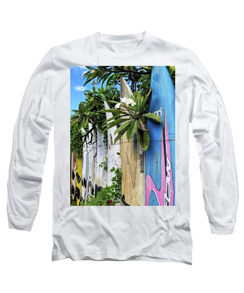 Plumeria Surf Boards Long Sleeve T-Shirt