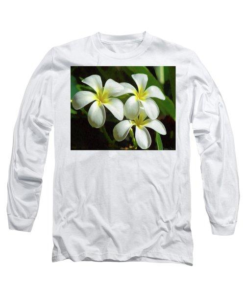 Plumeria Trio Long Sleeve T-Shirt