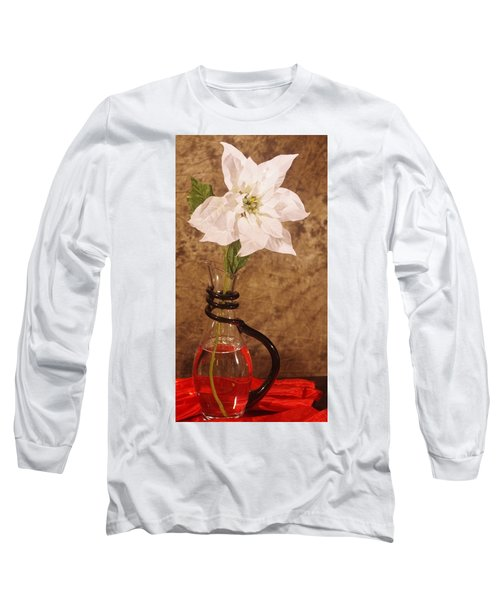 Poinsettia In Pitcher  Long Sleeve T-Shirt