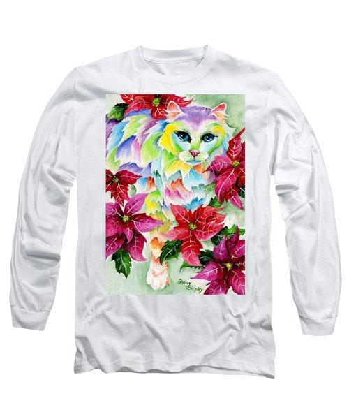 Poinsettia Sweetheart Long Sleeve T-Shirt