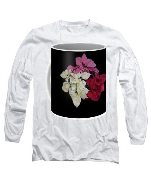 Poinsettia Tricolor Mug  Long Sleeve T-Shirt by R  Allen Swezey