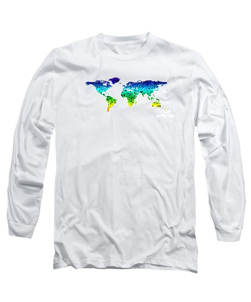 Point Map Long Sleeve T-Shirt by Roger Lighterness