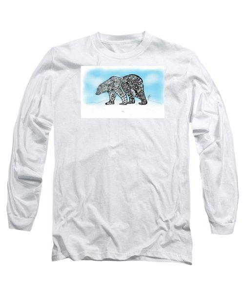 Polar Bear Doodle Long Sleeve T-Shirt
