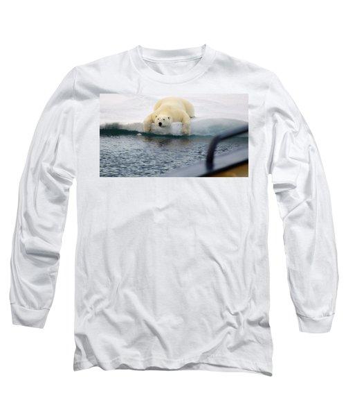 Polar Bear Says 'huh' Long Sleeve T-Shirt
