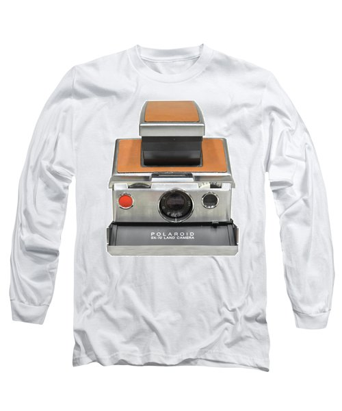 Polaroid Sx70 On White Long Sleeve T-Shirt