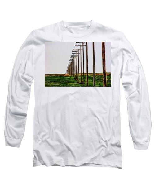 Poles In A Row Long Sleeve T-Shirt