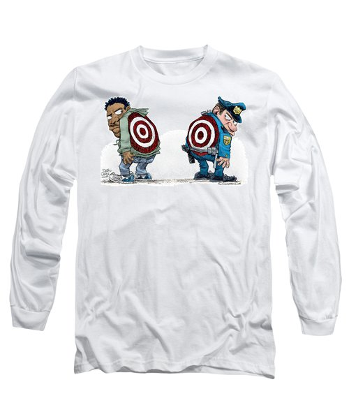 Police And Black Folks Are Targets Long Sleeve T-Shirt