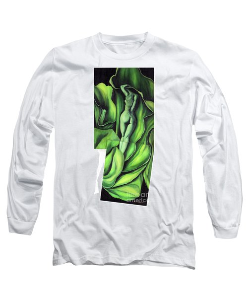 Long Sleeve T-Shirt featuring the painting Pollination by Fei A