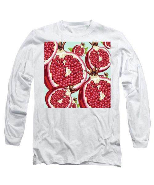 Pomegranate   Long Sleeve T-Shirt by Mark Ashkenazi