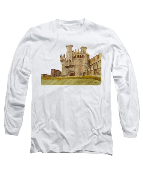 Ponferrada Templar Castle  Long Sleeve T-Shirt by Angeles M Pomata