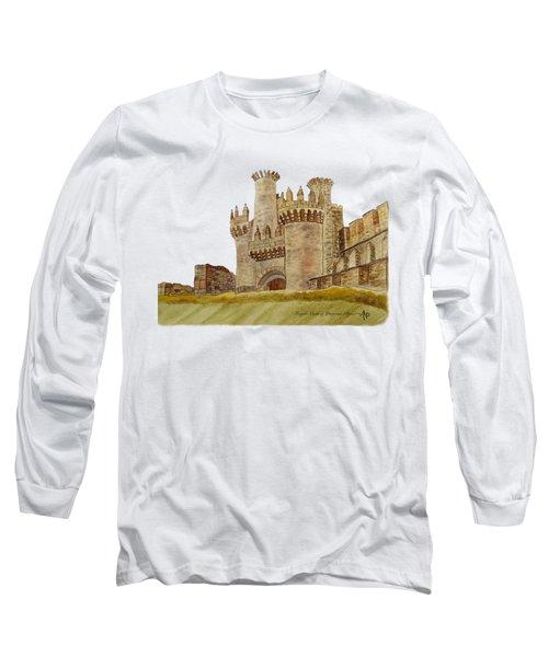 Ponferrada Templar Castle  Long Sleeve T-Shirt by Angeles M Pomata
