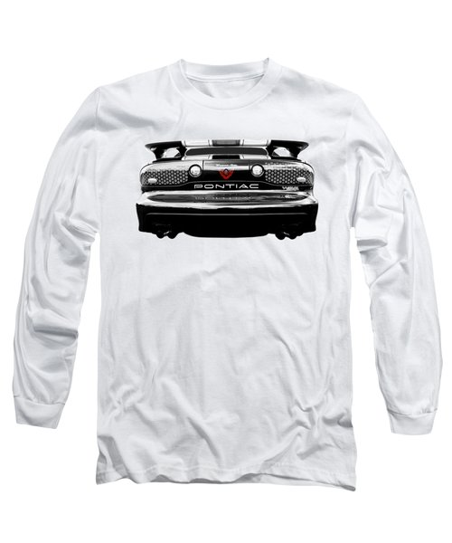 Pontiac Trans Am Rear In Black And White Long Sleeve T-Shirt