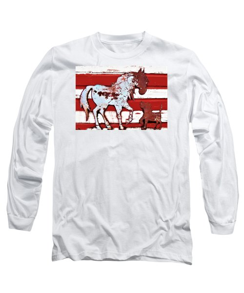 Pony And Pup Long Sleeve T-Shirt