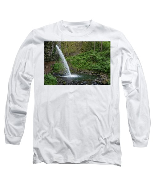Long Sleeve T-Shirt featuring the photograph Ponytail Falls by Greg Nyquist