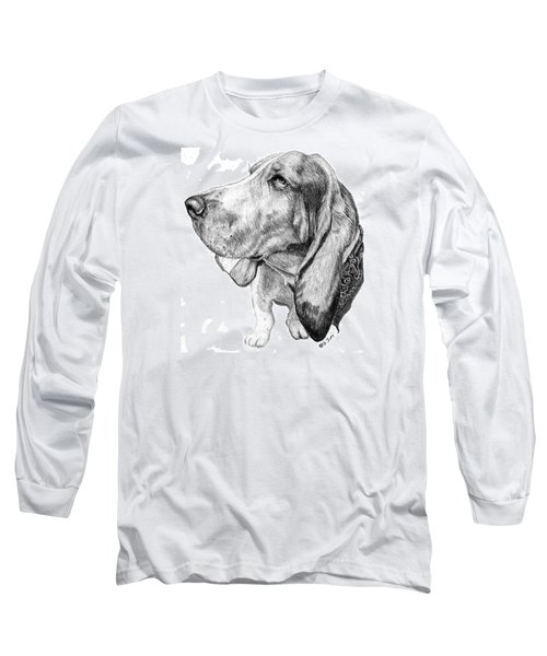 Long Sleeve T-Shirt featuring the drawing Pooch by Mike Ivey