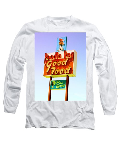 Poodle Dog Diner Long Sleeve T-Shirt by Kathleen Grace
