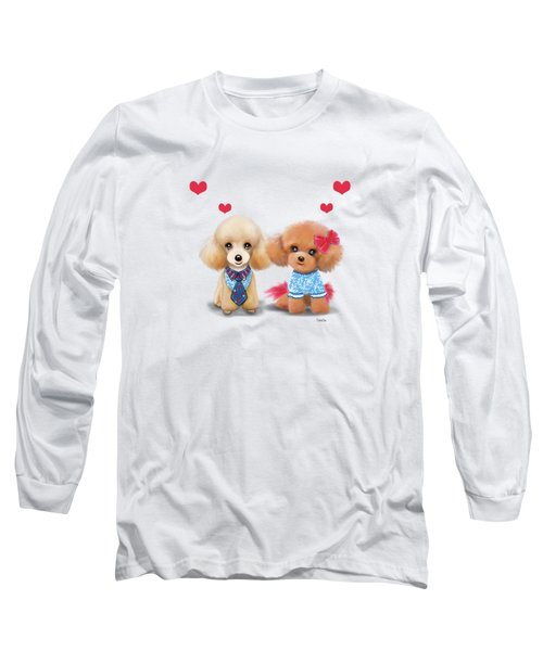 Poodles Are Love Long Sleeve T-Shirt by Catia Cho