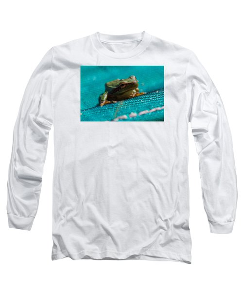 Long Sleeve T-Shirt featuring the photograph Pool Frog by Richard Patmore