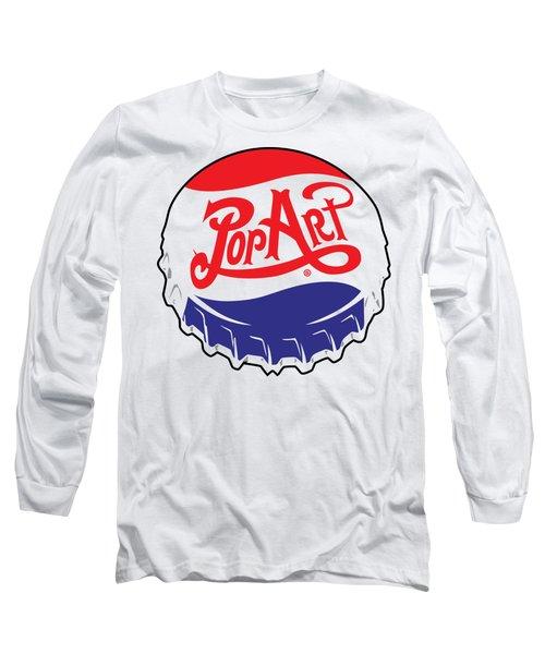 Pop Art Bottle Cap Long Sleeve T-Shirt