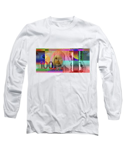 Pop-art Colorized New One Hundred Canadian Dollar Bill Long Sleeve T-Shirt