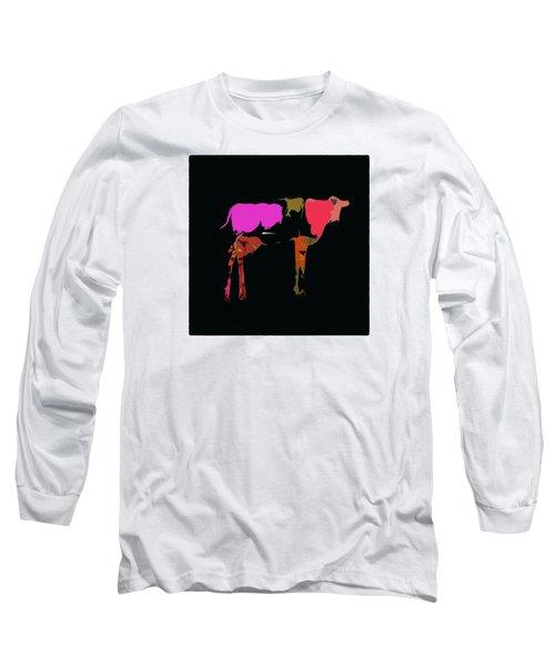 Pop Art Cow Long Sleeve T-Shirt