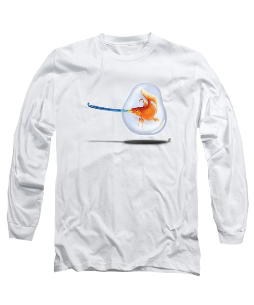 Popper Colour Long Sleeve T-Shirt by Rob Snow