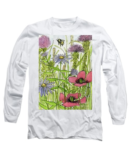 Poppies And Wildflowers Long Sleeve T-Shirt