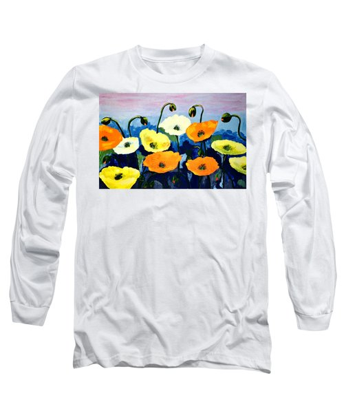 Poppies In Colour Long Sleeve T-Shirt