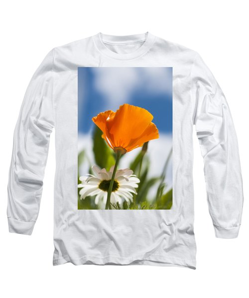 Poppy And Daisies Long Sleeve T-Shirt