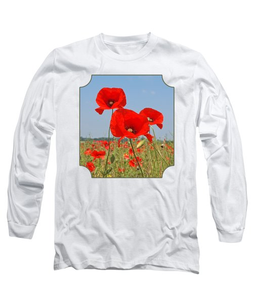 Poppy Fields 4 Long Sleeve T-Shirt