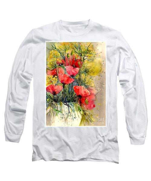 Poppy Impression Long Sleeve T-Shirt